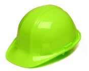 Hi Vis Green Cap Style 4 Point Ratchet Suspenision