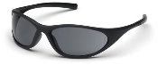 Zone II Safety Glasses Gray Lens w/ Matte Black Frames