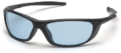 Azera Safety Glasses Blue Lens Black Frame