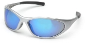 Zone II Silver Frame Ice Blue Mirror Lens