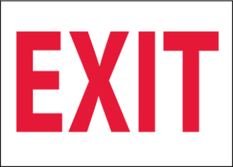 EXIT Stickers 10X14