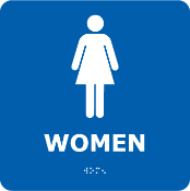 ADA Braille Signs-Women