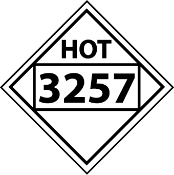 Hot Placard Sticker