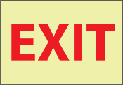 Glow In The Dark Exit Stickers