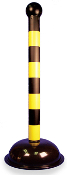 Yellow Warning Posts