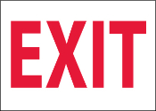 Plastic EXIT Sign 10X14