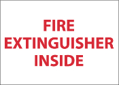 """Fire Extinguisher Inside"" Sign"