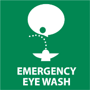 Emergency Eye Wash Sticker