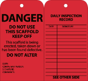 DANGER Scaffold Inspection Tags